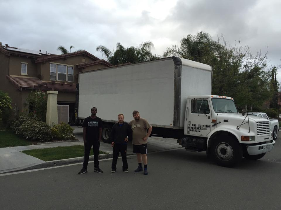 Our Moving team with customer